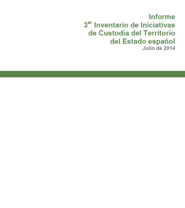 Informe del Tercer Inventario de Iniciativas de Custodia del Territorio del Estado español