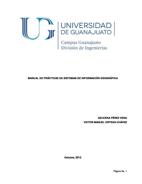 Manual de Prácticas de Sistemas de Información Geográfica
