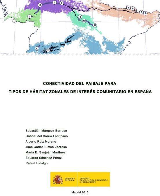 Conectividad del paisaje para tipos de hábitat zonales de interés comunitario en España
