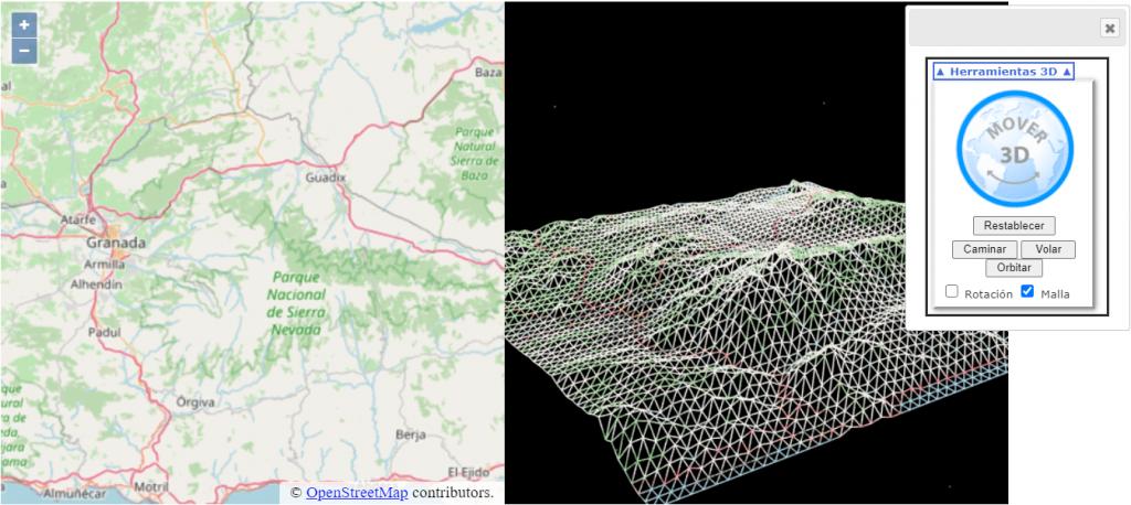 La posibilidad de acceder a un entorno 3D desde la base 2D es el propósito de esta la API TR3.js