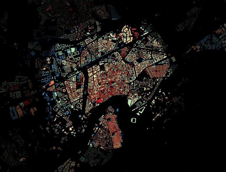Imagen de crecimiento urbano de Córdoba con datos de catastro inspire
