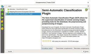Semi-Automatic Classification plugin en QGIS