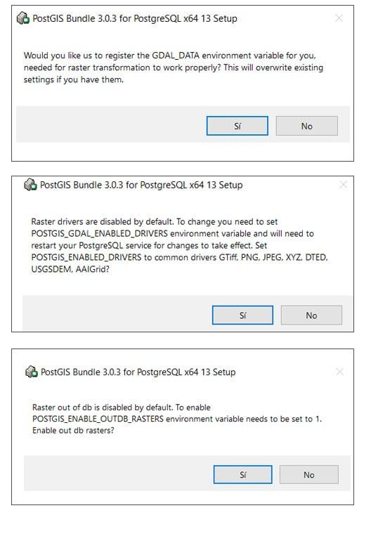 Instalación de PostGIS 3.0