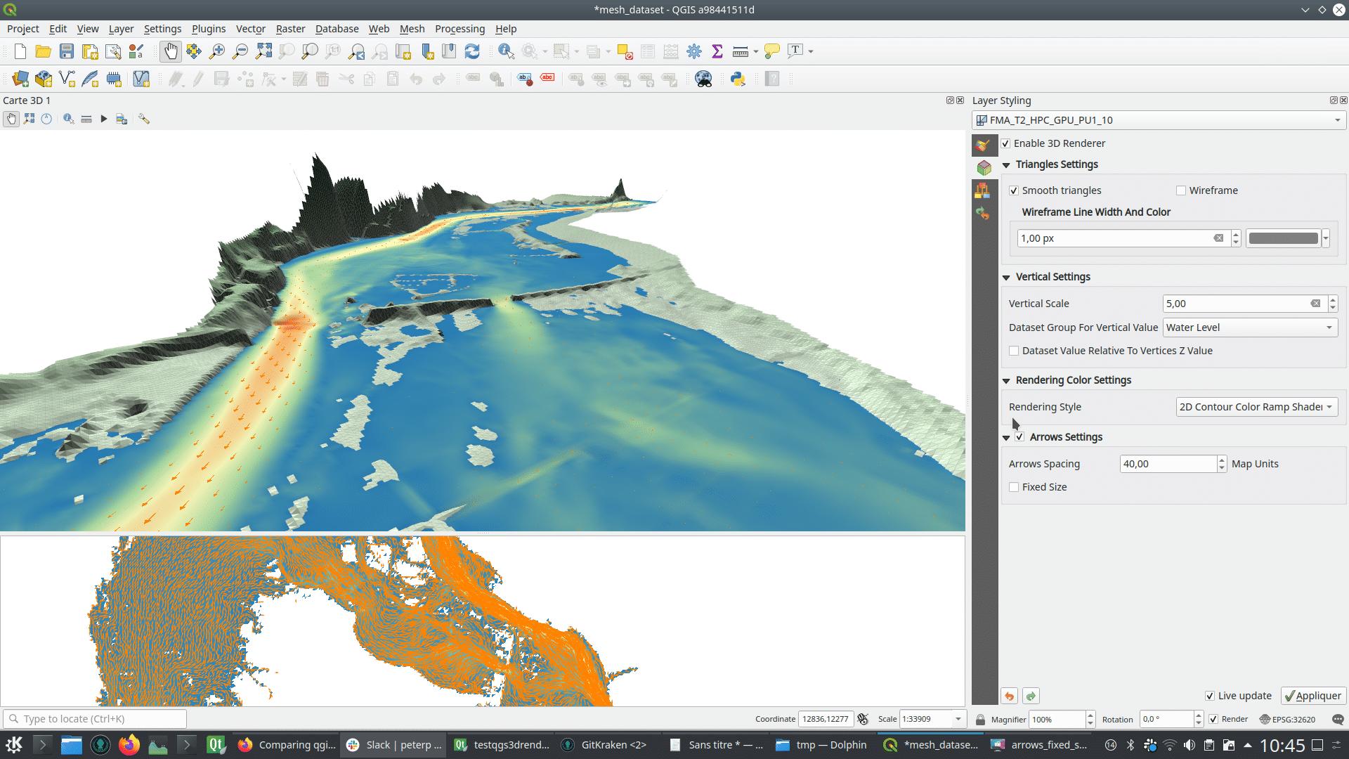 Vista 3D con datos de malla. Fuente: Lutra Consulting