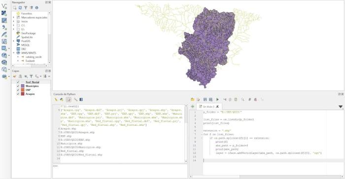 PyQGIS visualización de capas