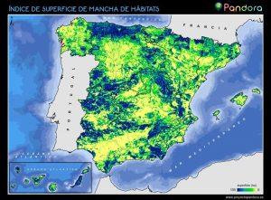 índice superficie de mancha de hábitats