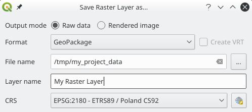 Agregar capa ráster a un Geopackage en QGIS 3.4 Madeira
