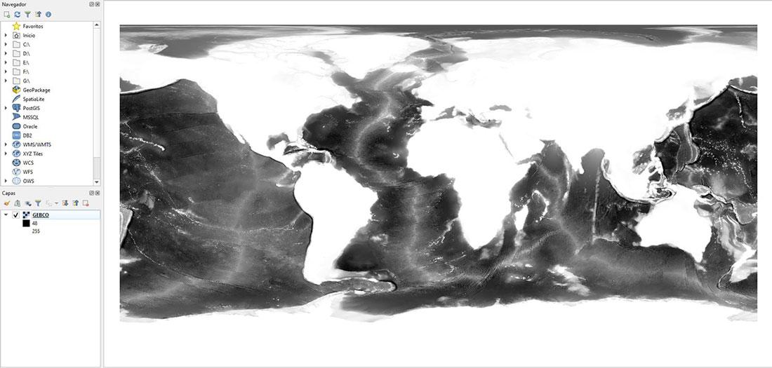 Modelo Batimétrico Mundo