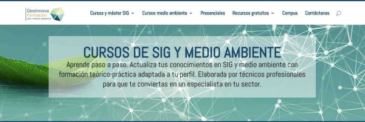 CURSOS DE SIG Y MEDIO AMBIENTE DE GEOINNOVA
