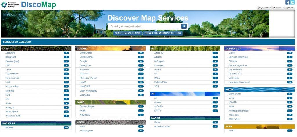 Presentación del directorio de Servicios Web de DISCOMAP