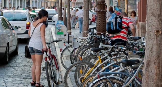 Movilidad sostenible: bicicletas.