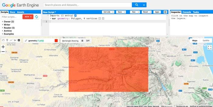 Delimitación de AOI en Google Earth Engine