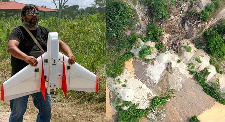 Drones utilizados para prevenir la tala ilegal