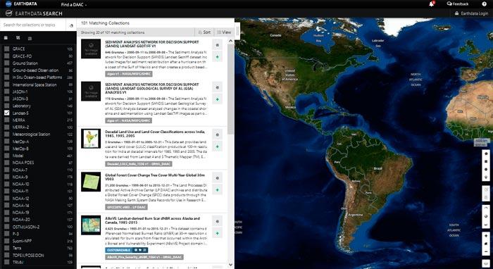 Earth Data imágenes satélite