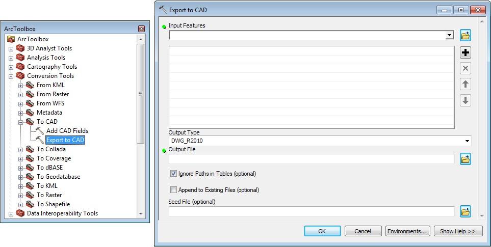 exportar shapefiles a formato CAD