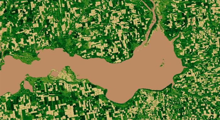 Ejemplo del Indice SAVI de la vegetación - Geoinnova