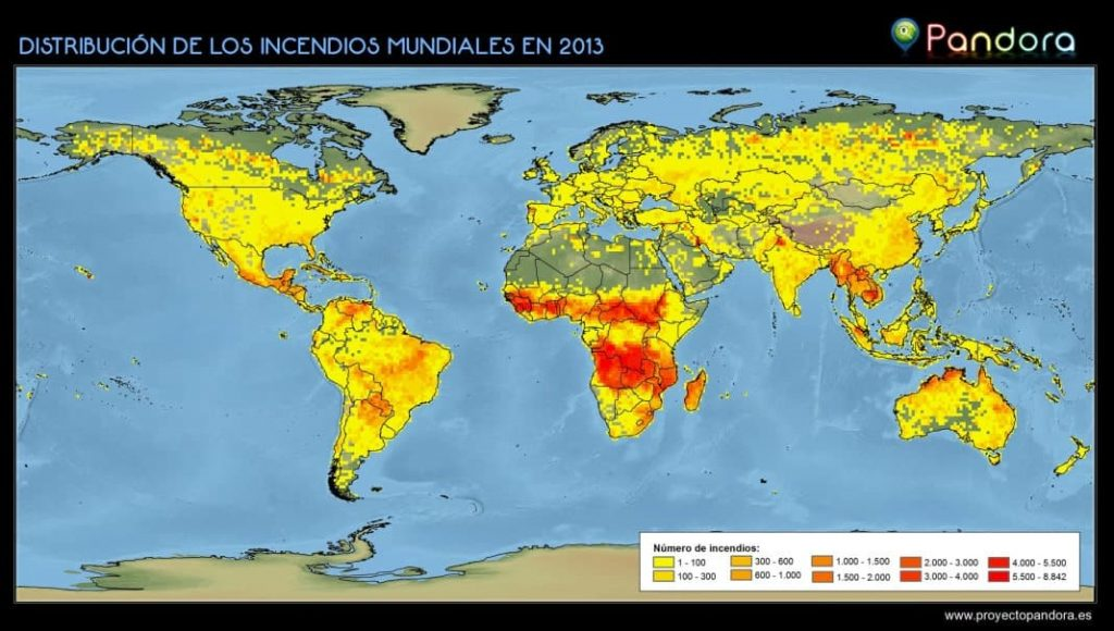 Mapa de incendios