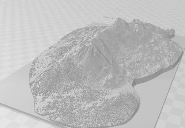 Diseño de Modelo para Impresión 3D a partir de datos LiDAR. Fuente: imagen propia