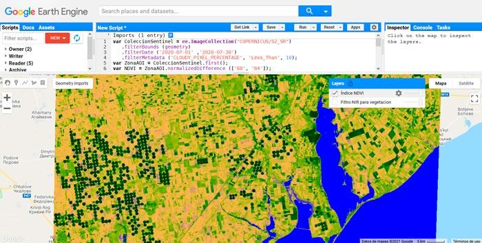 Script-NDVI-vegetación-Google-Earth-Engine