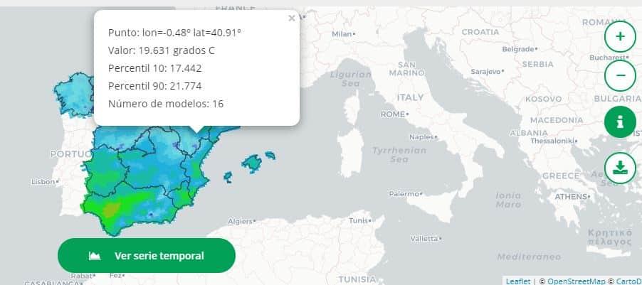 Visor Nacional de Escenarios de Cambio Climático II