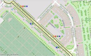 Detalle del plano de paradas de bus