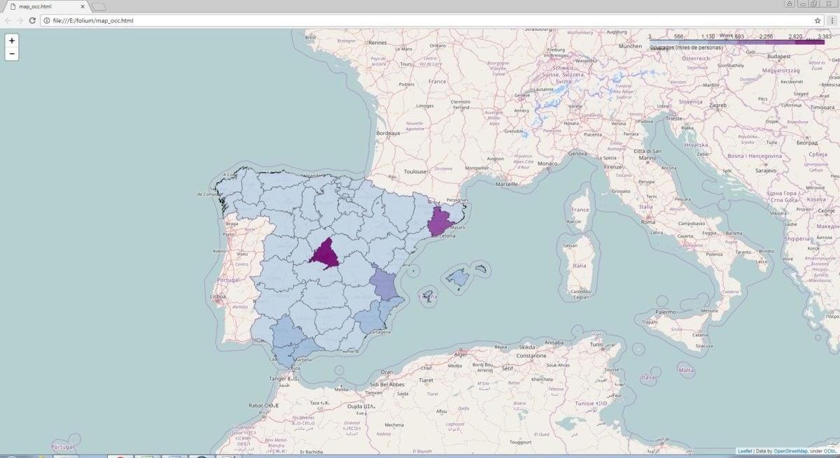 cartografía web con python