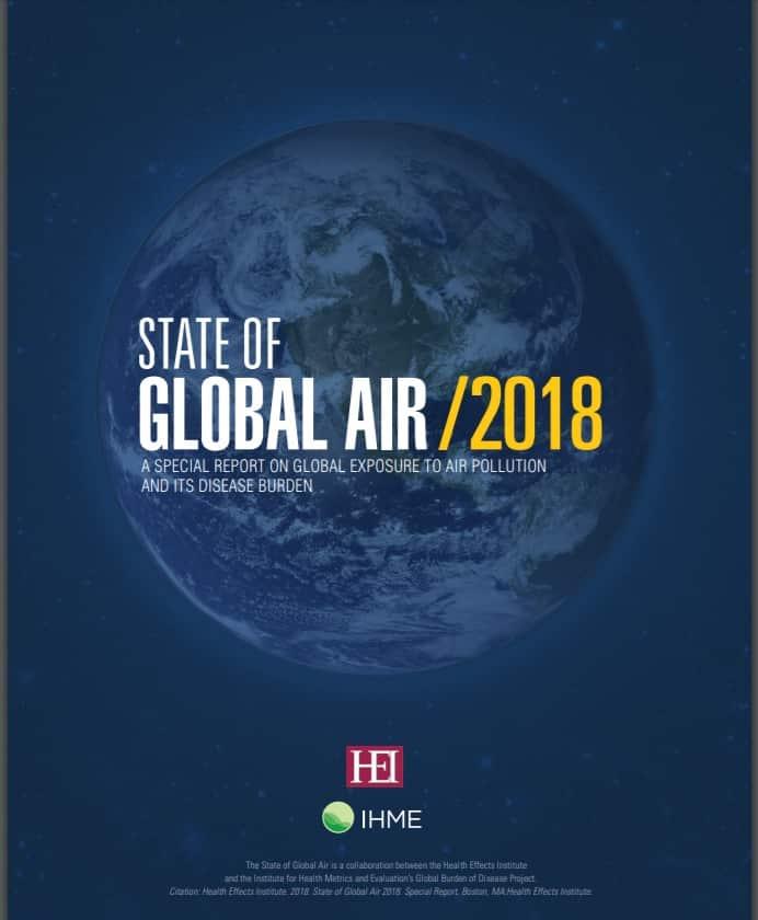 Informe anual sobre el estado del aire 2018