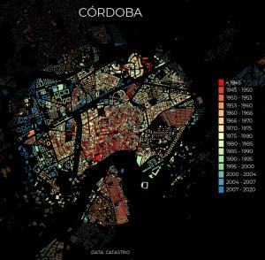 Análisis de evolución urbana con datos catastrales