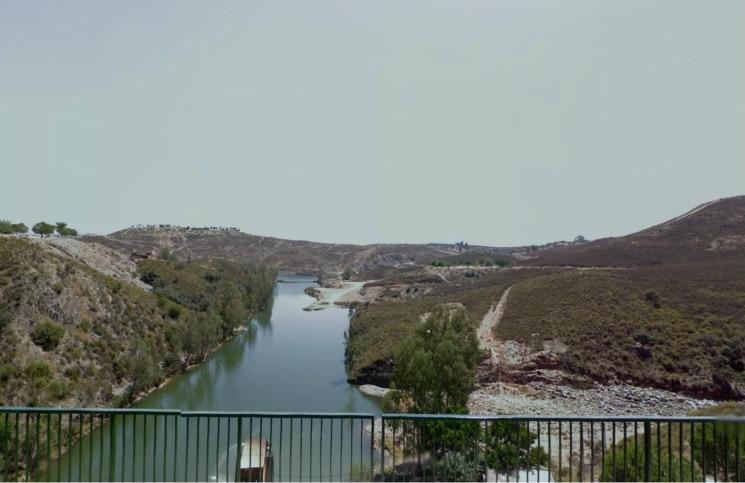Río Agrio tras la presa Fuente: haypesca.blogspot.com