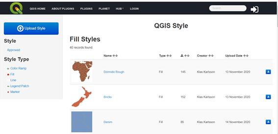 repositorio on-line de simbología para QGIS 3