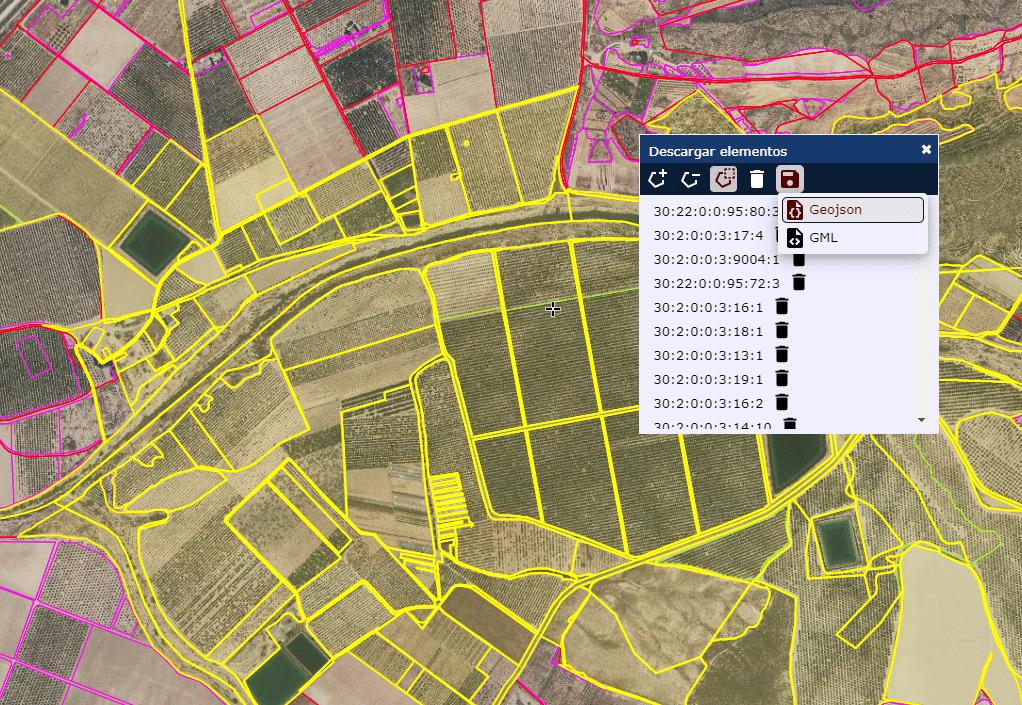 Formatos de descarga de cartografía