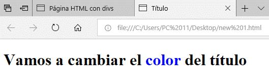 insertar bloques SPAN en HTML
