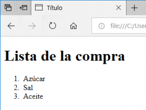 lista ordenada html