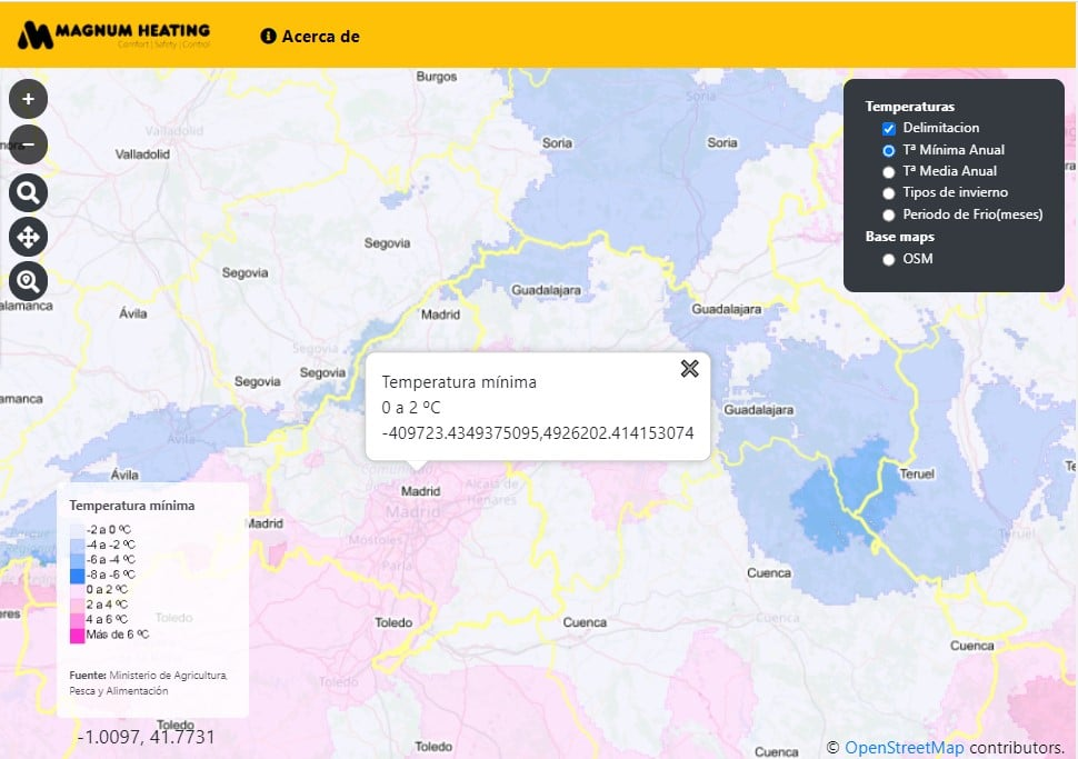 Captura de datos procedentes de servicios WMS en visor cartográfico.