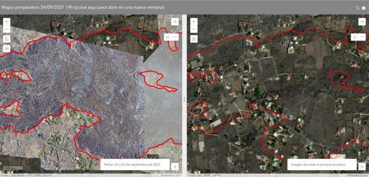 Comparador Portal sobre Riesgos Sísmicos del Cabildo de La Palma