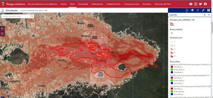 Simulación eruptiva Portal sobre Riesgos Sísmicos del Cabildo de La Palma
