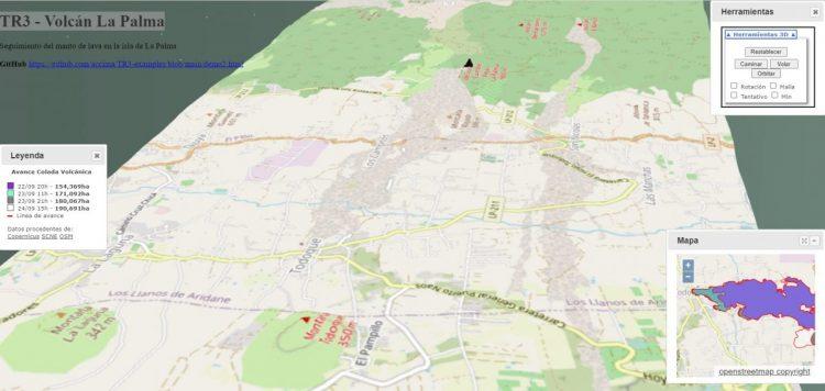 Visor 3D del seguimiento de la colada con Terre3