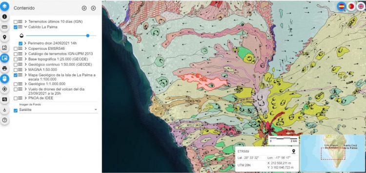 Visor 2D - Geología y evolución de la lava del IGME