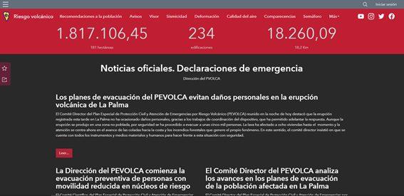 Portal sobre Riesgos Sísmicos del Cabildo de La Palma
